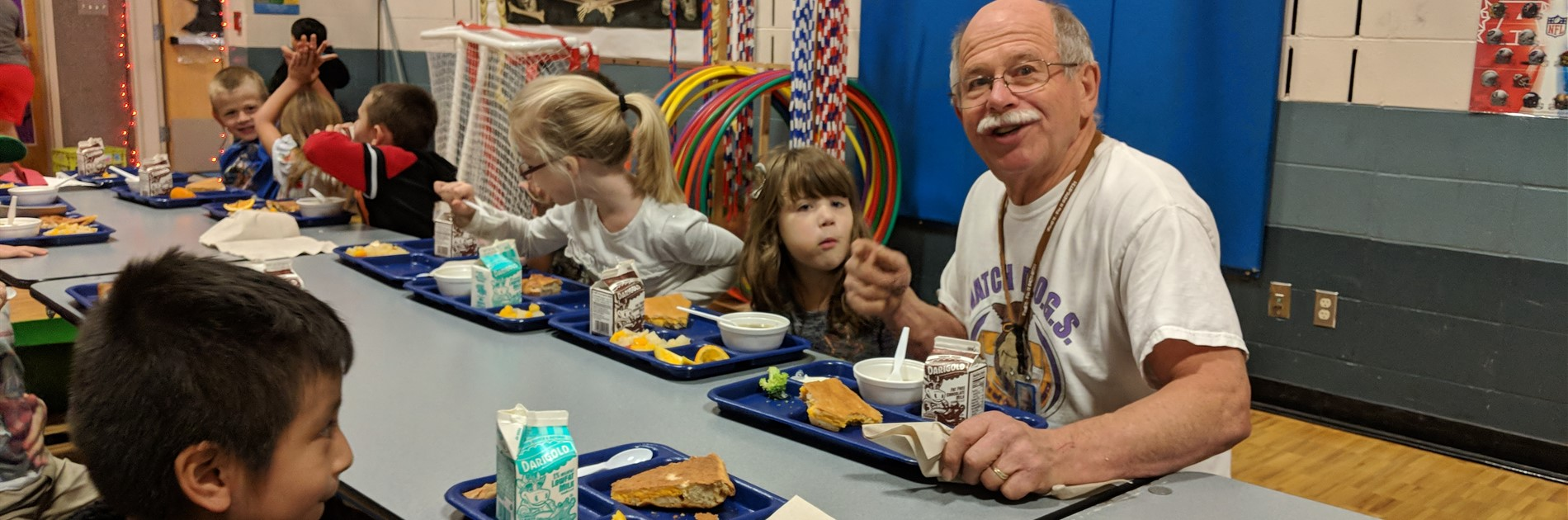 Watch DOG Grandpa Terry has lunch with students