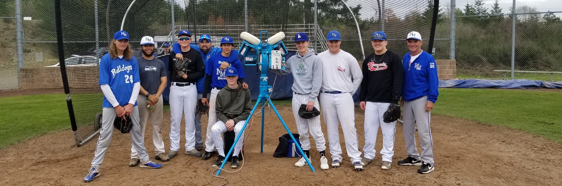NMHS Boys Baseball Varsity & New Pitching Machine