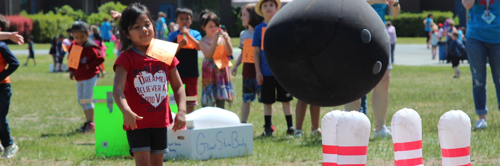 """bowling"" at field day"